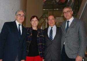 De izquierda a derecha: Jose María Sanz, Margarita Arboix, Juan Romo y Jaume Casals
